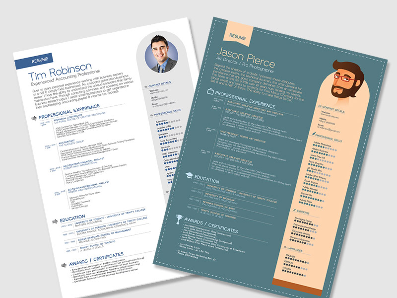 25 Beautiful Free Resume Templates 2019 Dovethemes