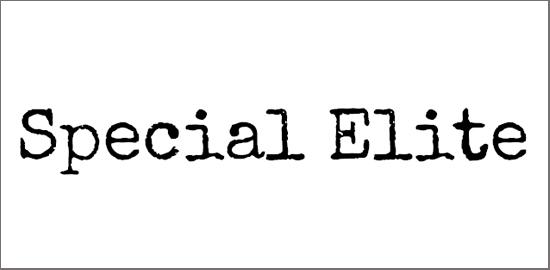 special-elite-font