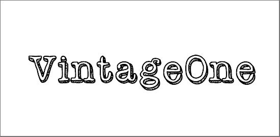 vintageone-font