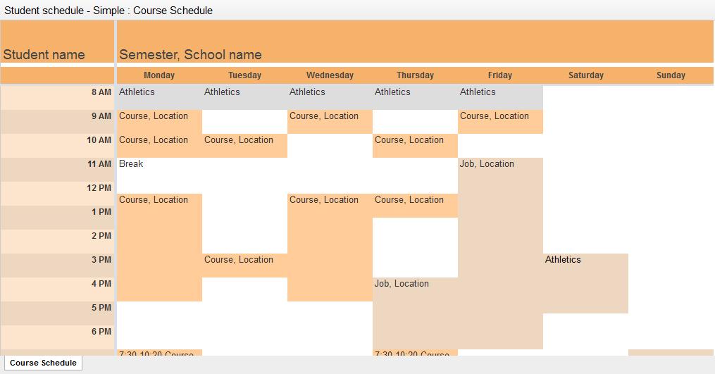 student-schedule
