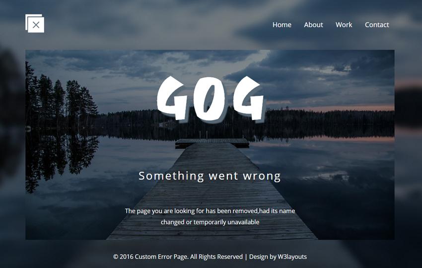 custom error page - Page Free