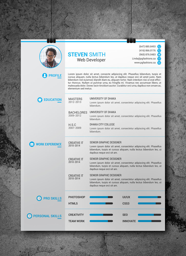 25 Beautiful Free Resume Templates 2018 Dovethemes